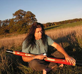 Peter Harper (musician) - Peter D. Harper with his didgeridoo in D from Day by Day