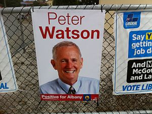 Peter Watson (politician) - Peter Watson campaign poster 2017