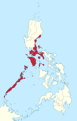 Location of Southern Tagalog