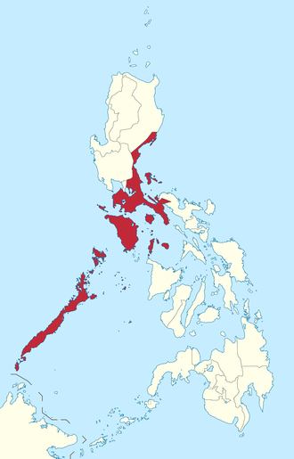 Southern Tagalog - Location within the Philippines