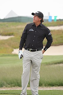 Phil Mickelson American professional golfer