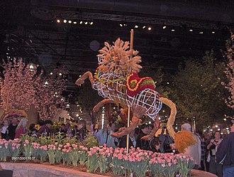 Philadelphia Flower Show - Image: Philadelphia Flower Show 2011 Carousel animal HPIM4376