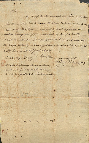 Philemon Dickinson - Letter from Philemon Dickinson, 1778