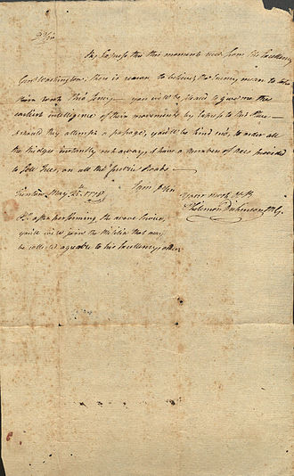 Philemon Dickinson - Letter from Philemon Dickinson, 1778