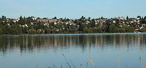 Phinney Ridge, Seattle - Green Lake and the eastern side of Phinney Ridge