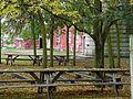 Picnic tables at Puck's Farm (3984996051).jpg