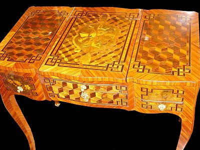 Coiffeuse Table With Marquetry By Pierre Roussel (about 1770)