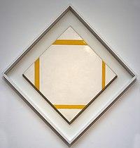 Piet mondrian, composizione a losanga con linee gialle, 1933.jpg
