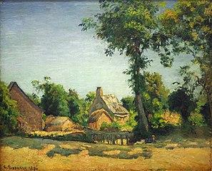 Landschaft (Dorf Melleraye, Département Mayenne