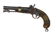 Mechanism of a 19th-century one-shot pistol