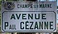 Plaque Avenue Paul Cézanne - Champs-sur-Marne (FR77) - 2021-04-24 - 1.jpg