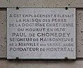 Plaque Paul de Chomedey, 73 rue du Cardinal Lemoine, Paris 5.jpg