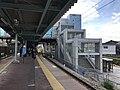 Platform of Chojabaru Station (Sasaguri Line).jpg