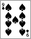 Playing card spade 9.svg
