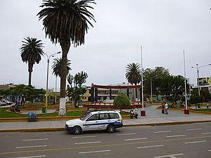 Camaná - Main plaza of Camaná