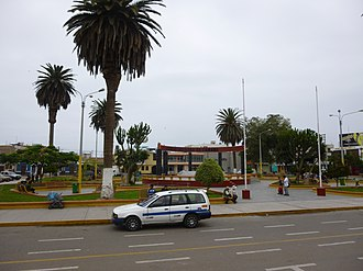 Camaná District - Main square of Camaná