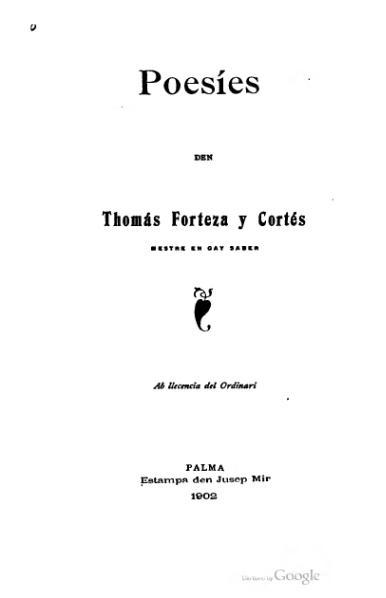 File:Poesíes den Thomás Forteza y Cortés (1902).djvu