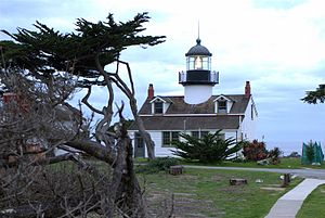 Monterey Peninsula - Point Pinos Lighthouse, Pacific Grove, California.