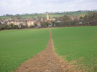 Polebrook village in the United Kingdom