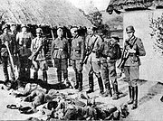 Polish farmers killed by German forces, German-occupied Poland, 1943