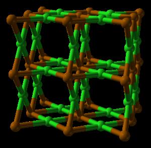 Polonium dichloride - Image: Polonium dichloride xtal 2x 2x 2 1955 3D balls