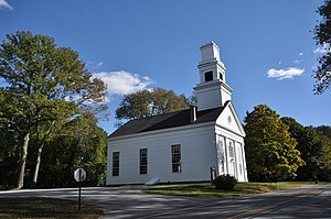 National Register of Historic Places listings in Windham County, Connecticut - Image: Pomfret CT Abington Congregational Church