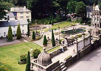 The Village (The Prisoner) - The piazza in Portmeirion, the real-life filming location for exterior shots of the Village