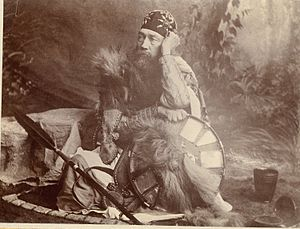 Tristram Speedy - Capt. Speedy photographed in Ethiopian military or noble garb, 1868