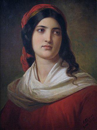 Karl von Blaas - Portrait of Laura Bernabo (1839) (Private collection)