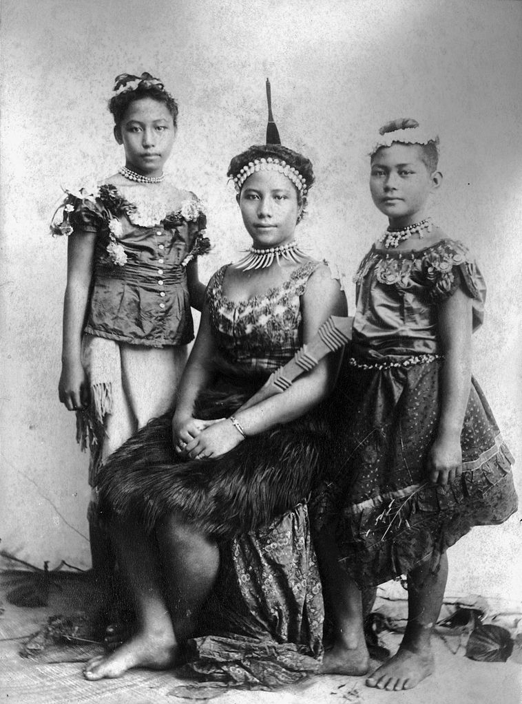 File Portrait Of Three Samoan Girls By Thomas Andrew Ca