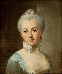 Izabela Lubomirska.Porträtt utfört av Per Krafft den äldre 1767.