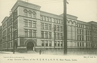 New York, New Haven and Hartford Railroad - General offices of the company, New Haven, about 1905