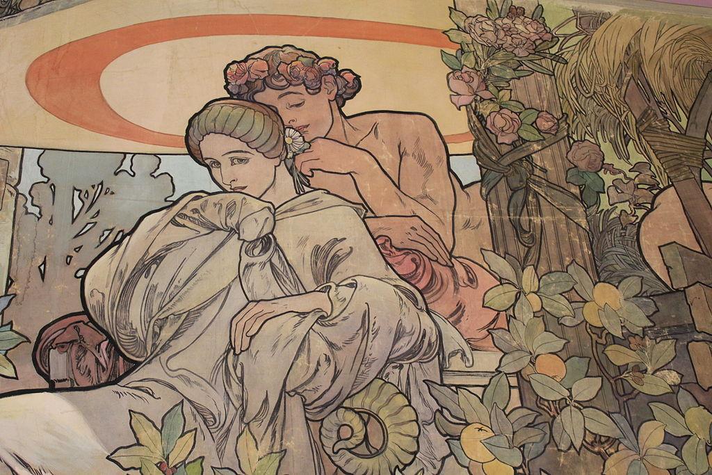 Oeuvre dans le musée d'Alfons Mucha à Prague.