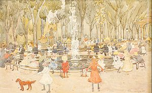 Central Park Mall - Image: Prendergast Maurice In Central Park New York 1900 03