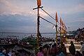 Preparation of Ganga aarti at Dasaswamedh Ghat, Varanasi.jpg
