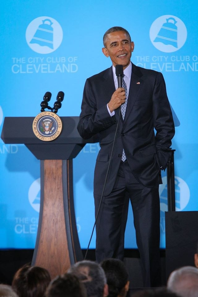 President Barack Obama Addresses The City Club of Cleveland