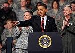 President Barack Obama addresses military personnel and civilians at Elmendorf Air Force Base, Alaska.jpg