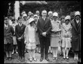 President Coolidge and Betty Robinson of South Bend, Indiana, winner of the fourth annual National Spelling Bee in Washington. The spelling bee contestants were received by President LCCN2016888807.tif