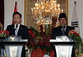 President Lee visiting Indonesia for a summit, March 2009.jpg