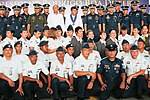 President Rodrigo Duterte poses with officials and aircrew personnel of the Presidential Airlift Wing 02.jpg