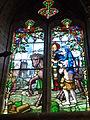 Prez (Ardennes) église, vitrail Saint George et le mendiant.JPG