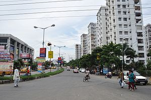 Prince Anwar Shah Road - Prince Anwar Shah Road connector to the Eastern Metropolitan Bypass, Kolkata.
