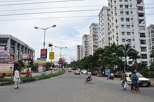 Prince Anwar Shah Road - Prince Anwar Shah Road connector to the Eastern Metropolitan Bypass, Kolkata.
