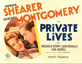 Affiche voor de film Private Lives