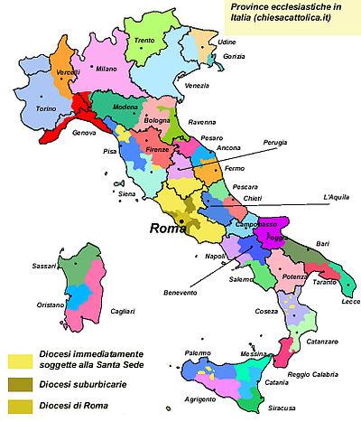 Province ecclesiastiche in territorio italiano