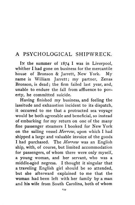 Psychological Shipwreck, 1893