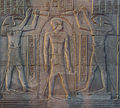 Ptolemy IX being purified by Thôt and Horus - Kom Ombo Temple.jpg