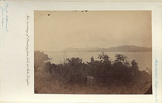 Manjung District - View of Dindings taken from a hill in Pulau Pangkor, 1874.