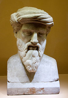 Pythagoras 6th century BC Ionian Greek philosopher and mystic