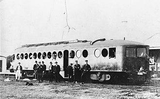 McKeen railmotor - Queensland Railways McKeen car c1913
